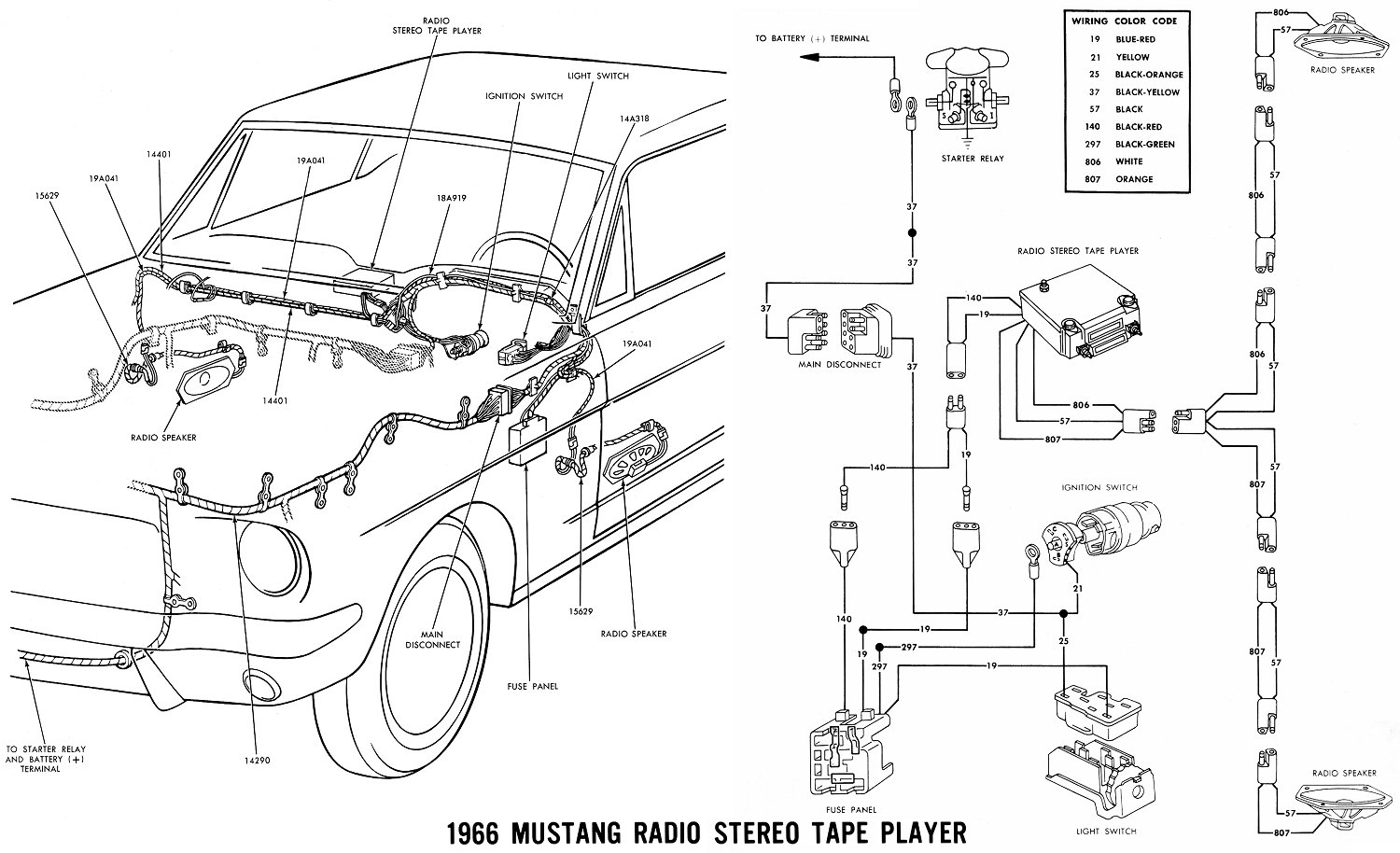 66stereo fomo am 8 track wiring diagram Ford Alternator Wiring Diagram at aneh.co