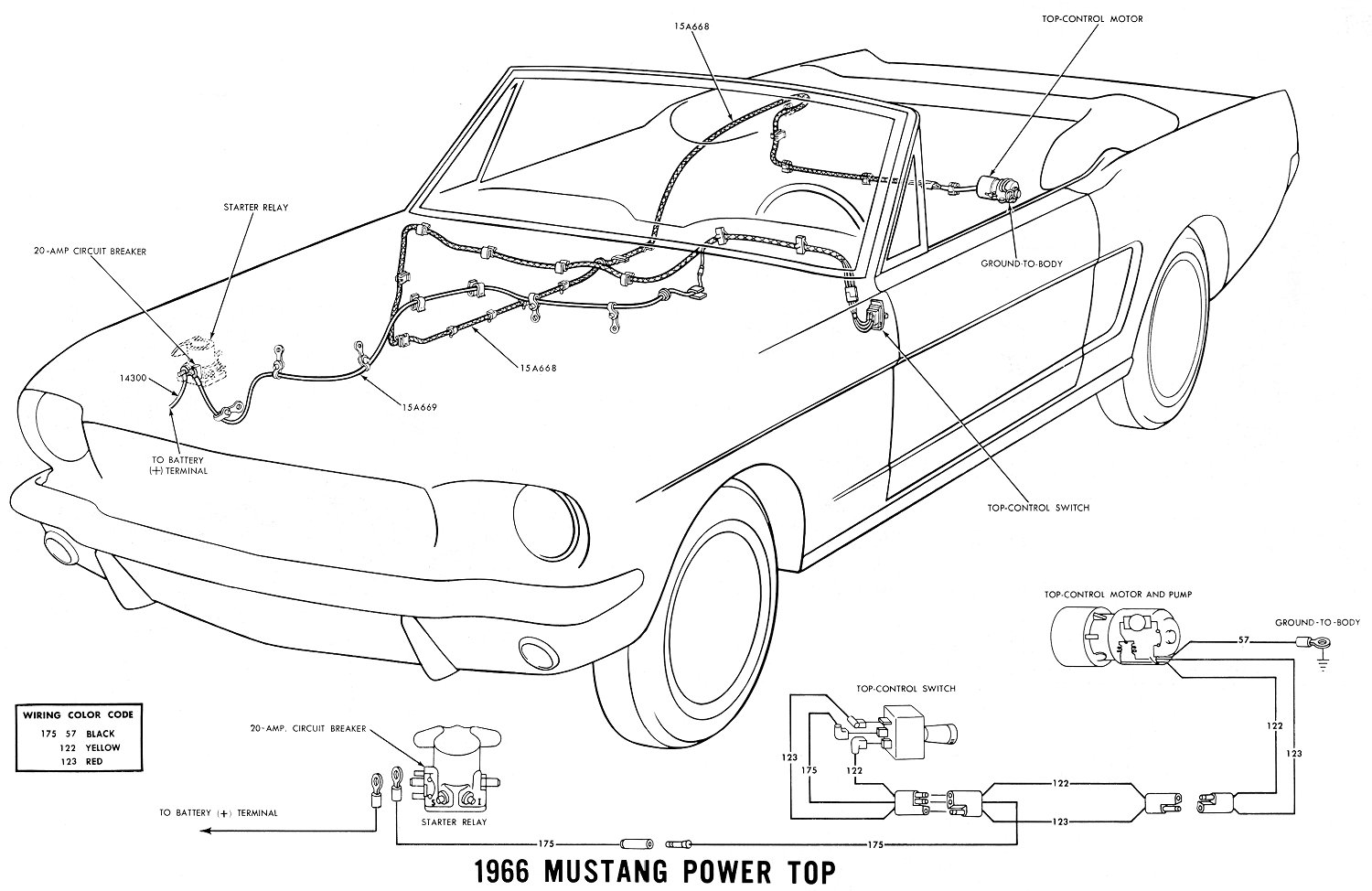 rtop on 1968 mustang wiring diagram